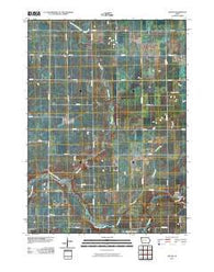 Yetter Iowa Historical topographic map, 1:24000 scale, 7.5 X 7.5 Minute, Year 2010