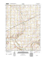 Yetter Iowa Historical topographic map, 1:24000 scale, 7.5 X 7.5 Minute, Year 2013