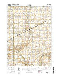 Yetter Iowa Current topographic map, 1:24000 scale, 7.5 X 7.5 Minute, Year 2015