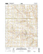 Zearing Iowa Current topographic map, 1:24000 scale, 7.5 X 7.5 Minute, Year 2015 from Iowa Map Store