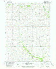 Zion Iowa Historical topographic map, 1:24000 scale, 7.5 X 7.5 Minute, Year 1981