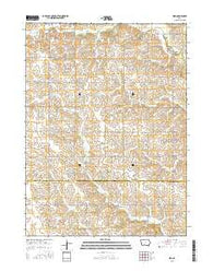 Zion Iowa Current topographic map, 1:24000 scale, 7.5 X 7.5 Minute, Year 2015