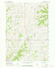 Zwingle Iowa Historical topographic map, 1:24000 scale, 7.5 X 7.5 Minute, Year 1962
