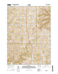 Zwingle Iowa Current topographic map, 1:24000 scale, 7.5 X 7.5 Minute, Year 2015