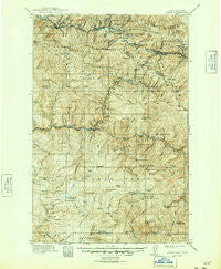 Avery Idaho Historical topographic map, 1:125000 scale, 30 X 30 Minute, Year 1917