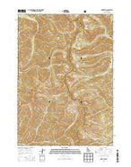 Baker Peak Idaho Current topographic map, 1:24000 scale, 7.5 X 7.5 Minute, Year 2013 from Idaho Map Store