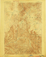 Bear Valley Idaho Historical topographic map, 1:125000 scale, 30 X 30 Minute, Year 1893