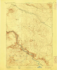 Bisuka Idaho Historical topographic map, 1:125000 scale, 30 X 30 Minute, Year 1894