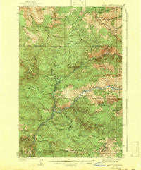 Boehls Butte Idaho Historical topographic map, 1:62500 scale, 15 X 15 Minute, Year 1943