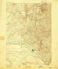 Boise Idaho Historical topographic map, 1:125000 scale, 30 X 30 Minute, Year 1892