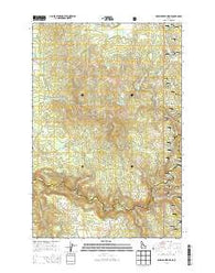 Brown Creek Ridge Idaho Current topographic map, 1:24000 scale, 7.5 X 7.5 Minute, Year 2014