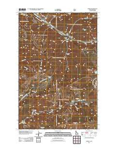 Burke Idaho Historical topographic map, 1:24000 scale, 7.5 X 7.5 Minute, Year 2011