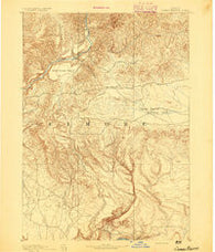 Camas Prairie Idaho Historical topographic map, 1:125000 scale, 30 X 30 Minute, Year 1892