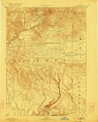 Camas Prairie Idaho Historical topographic map, 1:125000 scale, 30 X 30 Minute, Year 1893