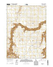Cave Draw Idaho Current topographic map, 1:24000 scale, 7.5 X 7.5 Minute, Year 2013 from Idaho Maps Store