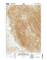 Chesterfield Reservoir Idaho Current topographic map, 1:24000 scale, 7.5 X 7.5 Minute, Year 2013 from Idaho Maps Store