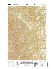 Chicken Peak Idaho Current topographic map, 1:24000 scale, 7.5 X 7.5 Minute, Year 2013 from Idaho Maps Store