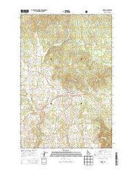 Deary Idaho Current topographic map, 1:24000 scale, 7.5 X 7.5 Minute, Year 2014
