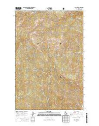 Elk Butte Idaho Current topographic map, 1:24000 scale, 7.5 X 7.5 Minute, Year 2014