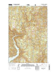 Elk Creek Falls Idaho Current topographic map, 1:24000 scale, 7.5 X 7.5 Minute, Year 2014