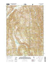 Elk Valley Idaho Current topographic map, 1:24000 scale, 7.5 X 7.5 Minute, Year 2015