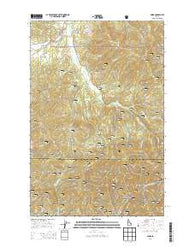 Emida Idaho Current topographic map, 1:24000 scale, 7.5 X 7.5 Minute, Year 2014