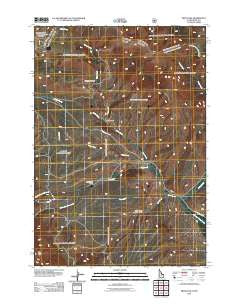 Fritz Peak Idaho Historical topographic map, 1:24000 scale, 7.5 X 7.5 Minute, Year 2011