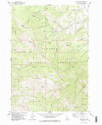 Garns Mtn. Idaho Historical topographic map, 1:24000 scale, 7.5 X 7.5 Minute, Year 1978