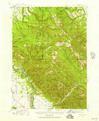 Garns Mtn Idaho Historical topographic map, 1:62500 scale, 15 X 15 Minute, Year 1943