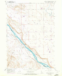 Givens Hot Springs Idaho Historical topographic map, 1:24000 scale, 7.5 X 7.5 Minute, Year 1958