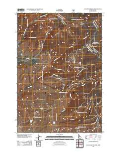 Goldstone Mountain Idaho Historical topographic map, 1:24000 scale, 7.5 X 7.5 Minute, Year 2011