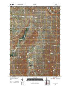 Granger Butte Idaho Historical topographic map, 1:24000 scale, 7.5 X 7.5 Minute, Year 2010