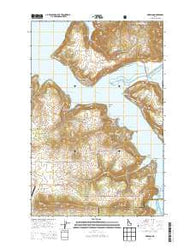 Harrison Idaho Current topographic map, 1:24000 scale, 7.5 X 7.5 Minute, Year 2014