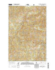 Huckleberry Mountain Idaho Current topographic map, 1:24000 scale, 7.5 X 7.5 Minute, Year 2013 from Idaho Maps Store