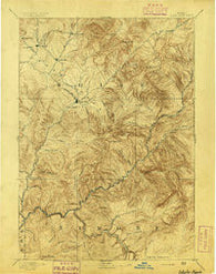 Idaho Basin Idaho Historical topographic map, 1:125000 scale, 30 X 30 Minute, Year 1894