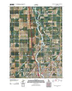 Idaho Falls North Idaho Historical topographic map, 1:24000 scale, 7.5 X 7.5 Minute, Year 2010