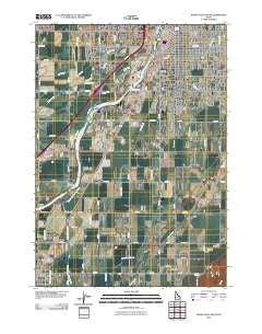 Idaho Falls South Idaho Historical topographic map, 1:24000 scale, 7.5 X 7.5 Minute, Year 2010