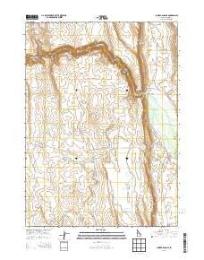 Juniper Basin SE Idaho Current topographic map, 1:24000 scale, 7.5 X 7.5 Minute, Year 2013