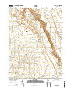 Juniper Butte Idaho Current topographic map, 1:24000 scale, 7.5 X 7.5 Minute, Year 2013