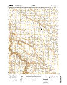 Juniper Ranch Idaho Current topographic map, 1:24000 scale, 7.5 X 7.5 Minute, Year 2013