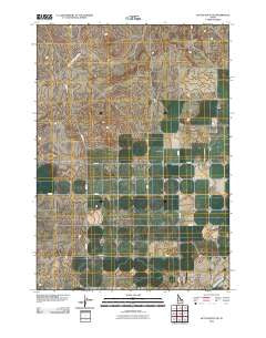 Kettle Butte NE Idaho Historical topographic map, 1:24000 scale, 7.5 X 7.5 Minute, Year 2010