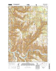 Kooskia Idaho Current topographic map, 1:24000 scale, 7.5 X 7.5 Minute, Year 2014