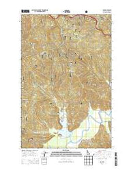 Lane Idaho Current topographic map, 1:24000 scale, 7.5 X 7.5 Minute, Year 2014