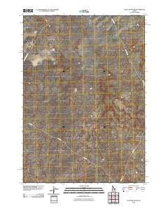 Little Butte NW Idaho Historical topographic map, 1:24000 scale, 7.5 X 7.5 Minute, Year 2010