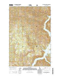 Little Green Mountain Idaho Current topographic map, 1:24000 scale, 7.5 X 7.5 Minute, Year 2014