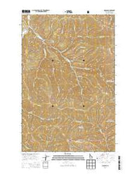 Masonia Idaho Current topographic map, 1:24000 scale, 7.5 X 7.5 Minute, Year 2014