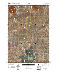 Middle Butte Idaho Historical topographic map, 1:24000 scale, 7.5 X 7.5 Minute, Year 2010