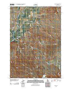 Midvale Idaho Historical topographic map, 1:24000 scale, 7.5 X 7.5 Minute, Year 2010