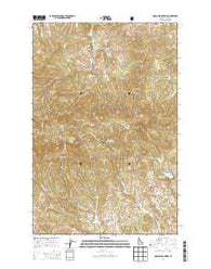 Moscow Mountain Idaho Current topographic map, 1:24000 scale, 7.5 X 7.5 Minute, Year 2014