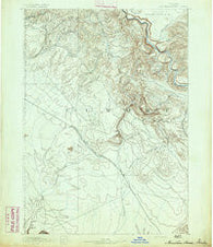 Mountain Home Idaho Historical topographic map, 1:125000 scale, 30 X 30 Minute, Year 1892